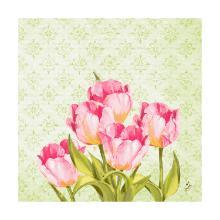 Servet dessin love tulips 3 laags tissue 40x40cm Artikel foto