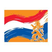 Placemat dessin oranjefeest papier 30x40cm Artikel foto