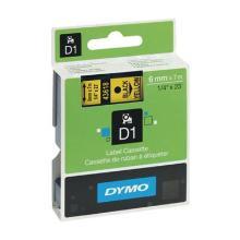 Etiketteerlint/tape D1 43618 6mm zwart/geel Dymo Artikel foto