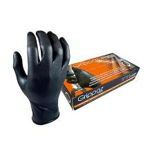 Handschoen zwart nitril ongepoederd maat L M-Safe 246BK Grippaz Artikel foto