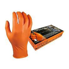 Handschoen oranje nitril ongepoederd maat XXXL M-Safe 246OR Grippaz Artikel foto