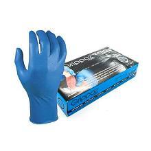Handschoen blauw nitril ongepoederd maat XXXL M-Safe 246 BL Grippaz Artikel foto
