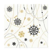 Servet dessin snowflake necklace white dunisoft 40x40cm op=op Artikel foto