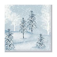 Servet dessin winter mornings 3 laags tissue 24x24cm Artikel foto
