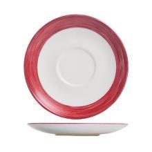 Schotel brush cherry wit met rode rand 140mm porselein Arcoroc Artikel foto