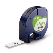 Dymo letratag lint papier 12mm zw/wit Artikel foto