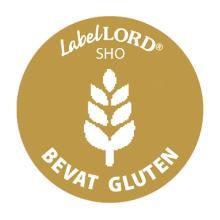 Etiket allergenen bevat gluten Artikel foto