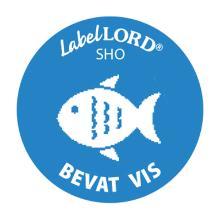Etiket allergenen bevat vis Artikel foto