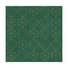 Servet dessin guilded star green dunisoft 40x40cm Artikel foto