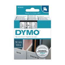Dymo 45010 D1-lint Zwart/trsp 12mm Artikel foto