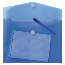 Dossiermap met drukknop blauw transparant Artikel foto