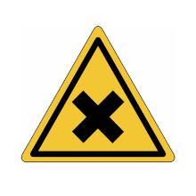 Gevaarpictogram driehoekig schadelijke of irriterende stoffen (verpakking 3 stuk Artikel foto