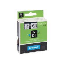 Labeltape 45803 Dymo 720830 19mmx7m zwart op wit Artikel foto