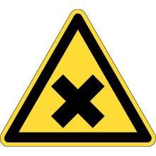 Gevaarteken - Schadelijke of irriterende stoffen - Zelfklevend Artikel foto