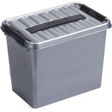 Opbergbox met handgreep 9ltr metallic/zwart Q-Line Artikel foto