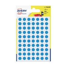 Avery psa08b etiket blauw rond 8mm Artikel foto