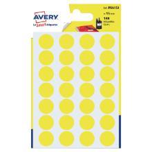 Avery psa15j etiket geel rond 15mm Artikel foto