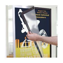 Kader, A2 zilver transparante deurhouder clicklijst Artikel foto