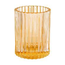 Houder voor kaars comodo creamy yellow 70x55mm glas Artikel foto