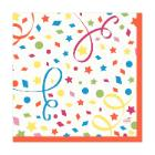 Servet dessin confetti 3 laags tissue 33x33cm Artikel foto