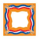 Napperon dessin oranjefeest dunicel 84x84cm Artikel foto