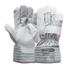 A-kwaliteit splitlederen handschoen Productfoto