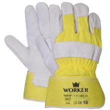 A-kwaliteit splitlederen handschoen, zware kwaliteit Productfoto