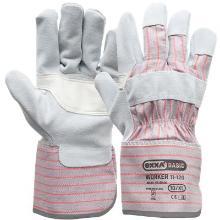A-kwaliteit splitlederen handschoen met palmversterking Productfoto