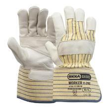 Nerflederen handschoen met gele gestreepte kap Productfoto
