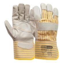 Meubellederen handschoen met palmversterking Productfoto