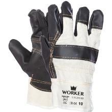 Meubellederen handschoen met donkere kleuren Productfoto