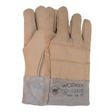 Meubellederen handschoen met split kap Productfoto