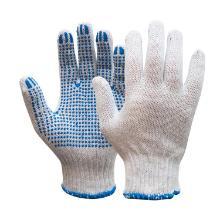 Rondgebreide polyester/katoen handschoen met PVC nop Productfoto