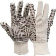 Polkadot handschoen met zwarte PVC nopjes Productfoto