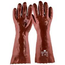 Handschoen PVC rood, 400 mm Productfoto