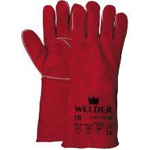 Lashandschoen van rood splitleder Productfoto