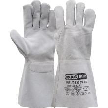 Lashandschoen van grijs splitleder Productfoto