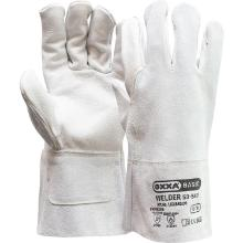 Welding glove made or grain/split leather with 8cm gauntlet product photo