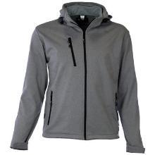M-Wear 6100 softshell jas grijs gemêleerd Productfoto