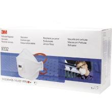 3M Aura 9332+S stofmasker FFP3 NR D met uitademventiel in kleinverpakking Productfoto
