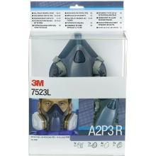 3M 7523L starterskit voor halfgelaatsmaskers met A2-P3 R filtercombinatie Productfoto