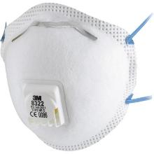 3M 8322 stofmasker FFP2 NR D met uitademventiel Productfoto