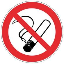 Roken verboden bord diameter 300 mm Productfoto