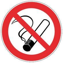 Roken verboden bord diameter 200 mm Productfoto