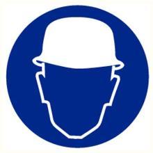 Veiligheidshelm verplicht bord diameter 200 mm Productfoto