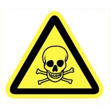 Giftige stoffen sticker lengte zijde 90 mm Productfoto
