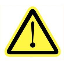 Opgelet/gevaar bord lengte zijde 200 mm Productfoto