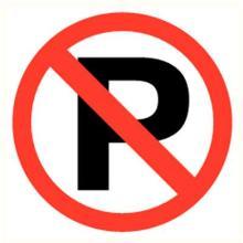 Parkeren verboden sticker diameter 90 mm Productfoto