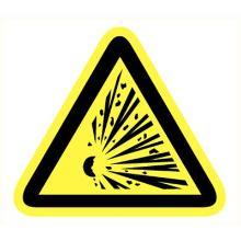 Explosieve stoffen bord lengte zijde 200 mm Productfoto