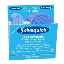 Salvequick 6754CAP fingertip detectable pleisters Productfoto